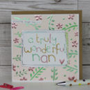 Card For A Nan