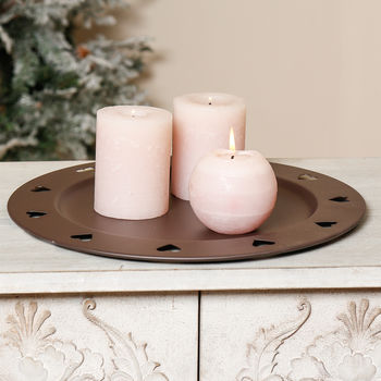 Decorative Iron Candle Plate Holder