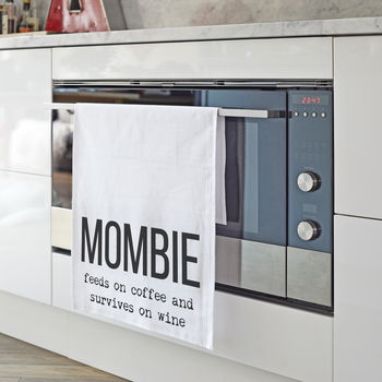 Personalised 'Mombie' Tea Towel