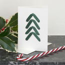 Christmas Card With Tree Shaped Ribbon