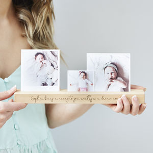 Baby Personalised Photo Block - picture frames for children