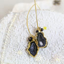 Amethyst And Black Diamond Earrings