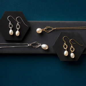 Contemporary Pearl Necklace And Earrings Set - top jewellery gifts
