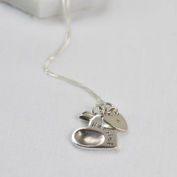 Personalised Fingerprint Charm Necklace