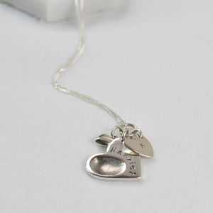 Personalised Fingerprint Charm Necklace - birthday gifts