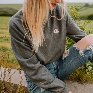 Personalised Initial Heart Embroidered Organic Jumper - women's fashion