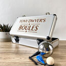 Personalised Boules And Petanque Set