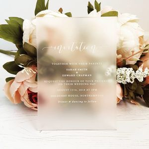 Perspex Wedding Invitation - invitations