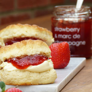 Strawberry And Marc De Champagne Jam Three Pack - jams & preserves