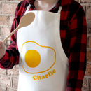 Fried Egg Kids Personalised Apron