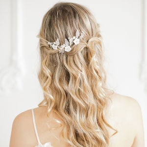 Floral Wedding Hair Pins - tiaras & hair combs