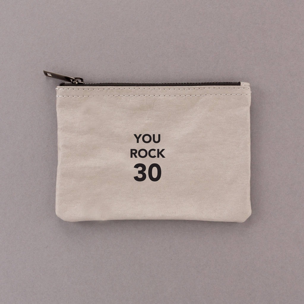 You Rock 30 Zipper Pouch Bag 30th Birthday Gift