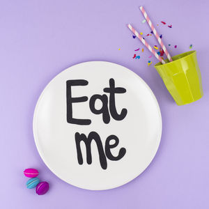 'Eat Me' Fun Picnic Plate