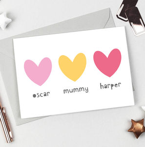 Personalised Siblings Mother's Day Card