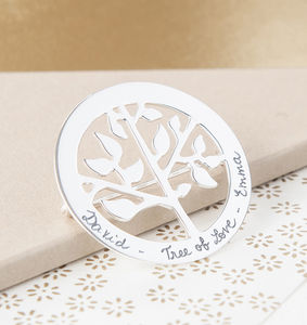 Personalised Tree Of Life Brooch - summer sale