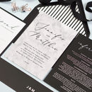 Monochrome Marble Wedding Invitations