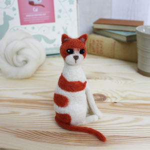 Cat Needle Felting Kit - knitting kits