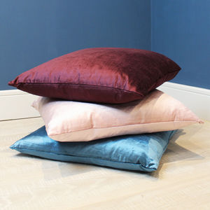 Feather Filled Velvet Cushions - bedroom