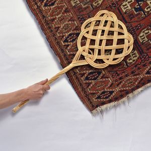Vintage Style Rattan Carpet Beater