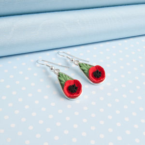 Poppy Drop Earrings - earrings