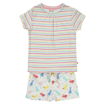 Hopping Bunny Girls Short Pyjamas