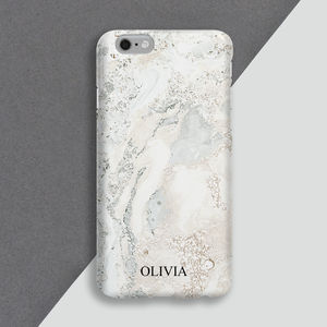 Personalised Marble Phone Case - womens