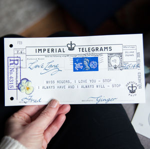 imperial telegrams - products | notonthehighstreet com