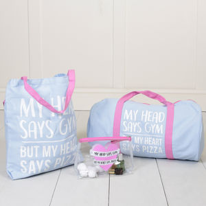 My Heart Says Pizza Gym Bag Collection - holdalls & weekend bags