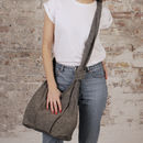Fair Trade Cotton Cross Body Everyday Bag Zip Closure