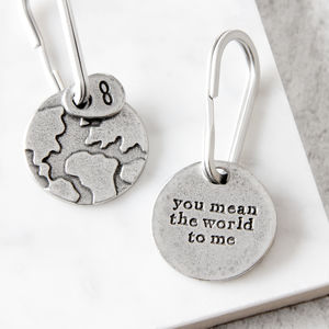'You Mean The World To Me' Keyring - keyrings