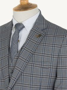 Men's Grey Check Jacket - coats & jackets