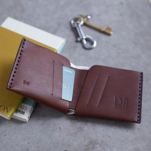Personalised Leather Hand Stitched Wallet - gifts for him