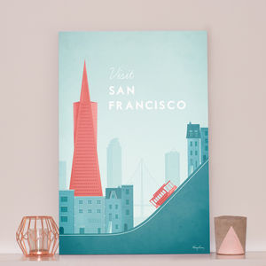 'Visit San Francisco' Travel Poster - posters & prints