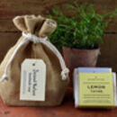 Hessian Gift Bag Of Handmade Soaps