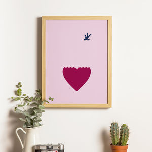 Fallen In Love Print - drawings & illustrations