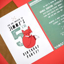 Fox Woodland Party Invitations Pack Of Eight