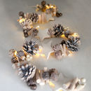 Pinecones And Stars Light Garland