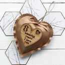 Personalised Faux Leather Bronze Anniversary Heart