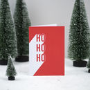'Ho, Ho, Ho' Christmas Card