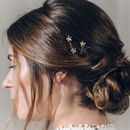 Star hairpins in gold Swarovski crystal