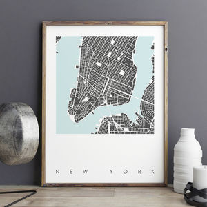 New York Map Art Print Limited Edition