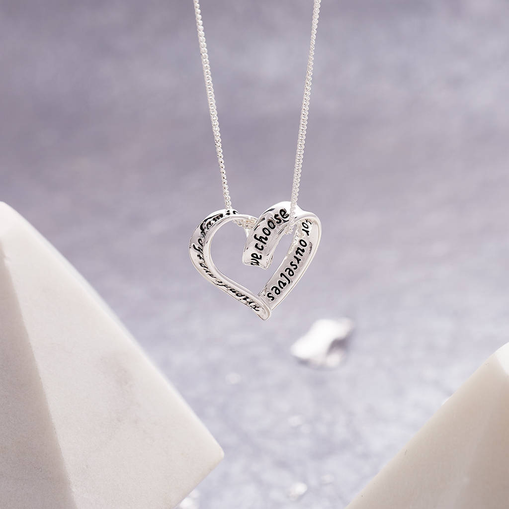 Heart Necklace For Friends Sisters And Daughters