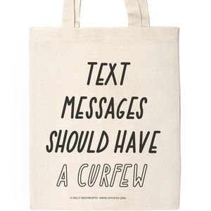 Text Messages Should Have A Curfew Canvas Tote Bag - accessories