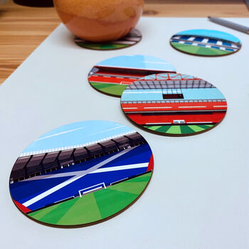 Graphic Illustration Of Any Football Stadium Coasters