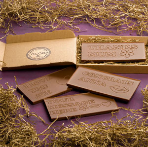 Personalised Engraved Chocolate Bar - brand new partners