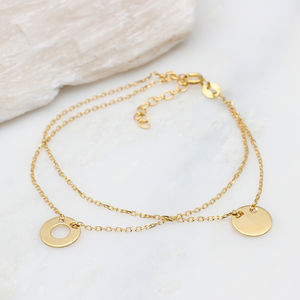 Personalised Double Layer Gold Bracelet