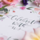 Summer's Bloom Floral Watercolour Wedding Stationery