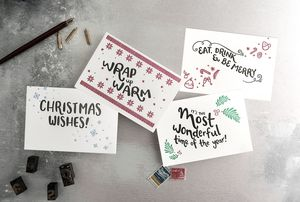 Most Wonderful Set Of 12 Letterpress Christmas Cards - christmas card packs