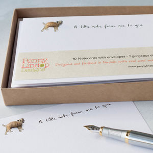 Boxed Set Of 10 Border Terrier Notecards
