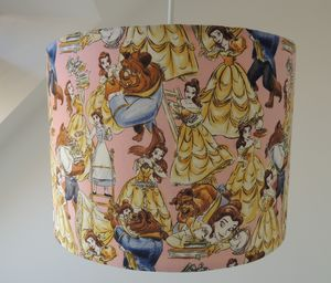 Handmade Lampshade In Beauty And The Beast Fabric